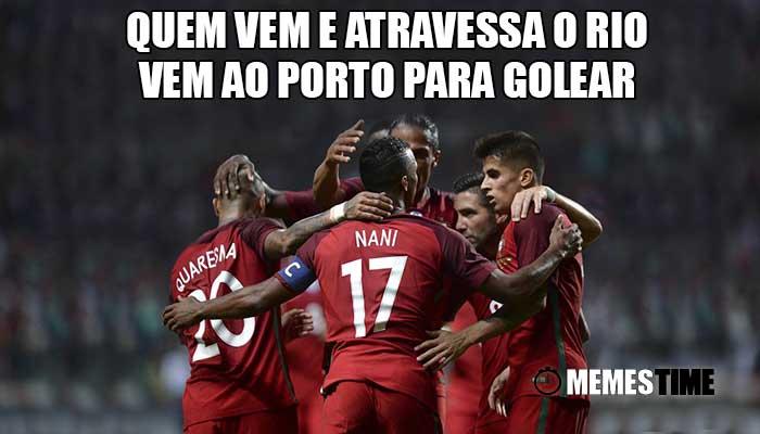 Memes Jogo de Preparação da Seleção Portuguesa para o Mundial da Rússia 2018: Portugal 5 Gibraltar 0 – Quem vem e atravessa o Rio vem ao Porto para Golear