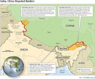 CHINA INDIA BORDERS