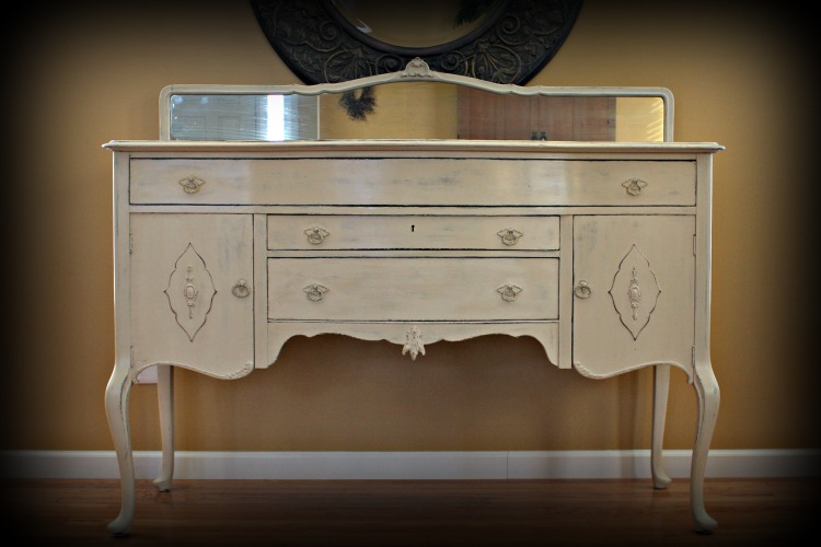 Queen Anne Style Buffet/Sideboard in Old Ochre