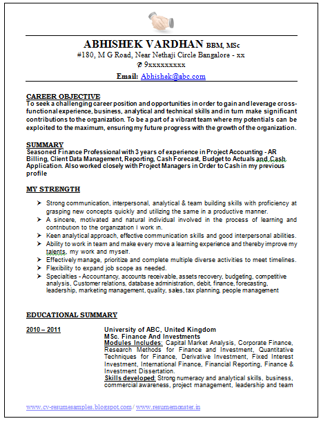 Resume Sample Resume For Accounting In Malaysia sample resume for accountant in singapore template cv format example