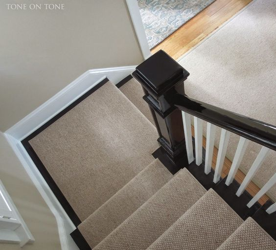 Staircase Runner And Painted Banister Home With Keki