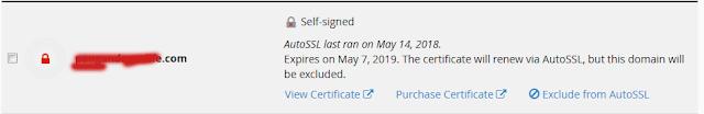 konfigurasi SSL cPanel untuk domain