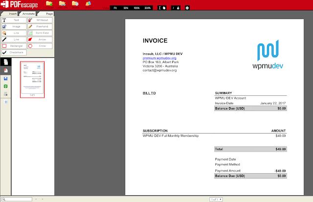 편집할 PDF 문서를 불러들인 후의 모습