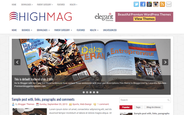 HighMag Free Blogger Template