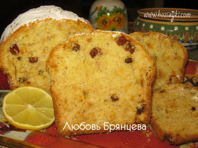 рецепт вкусного кекса с изюмом