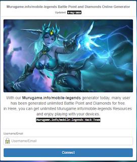 Murugame info || Generator Hack Diamonds dan BP Mobile legend[terbaru]