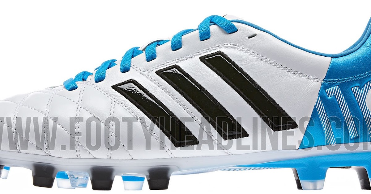 huge discount 9cb72 a586e White   Sky Blue Adidas Adipure 11pro II Boot Released