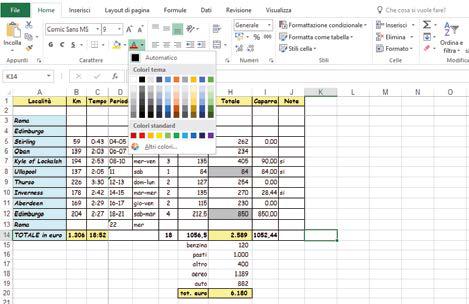 Come usare funzioni barra di menù Excel