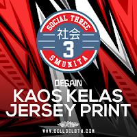 Ganti Kaos Kelas Mu dengan Jersey Full Printing Desain Full Color Suka Suka