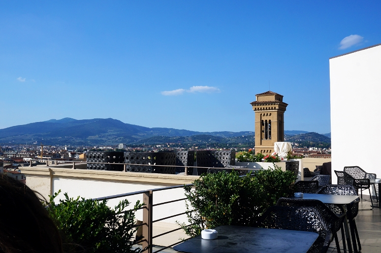 Euriental - luxury travel & style, Westin Excelsior rooftop bar view, Florence, Italy