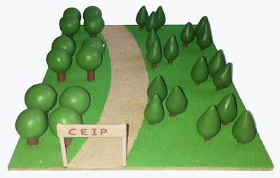 Maqueta parque material oposiciones