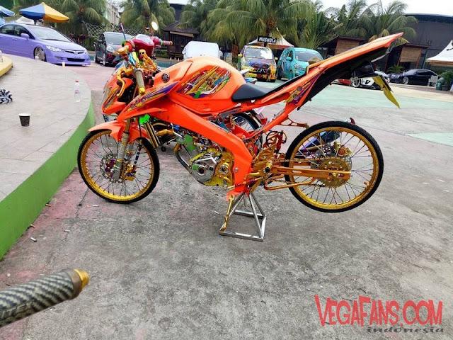 New Vixion Modif Jari Jari Thailook Warna Orange