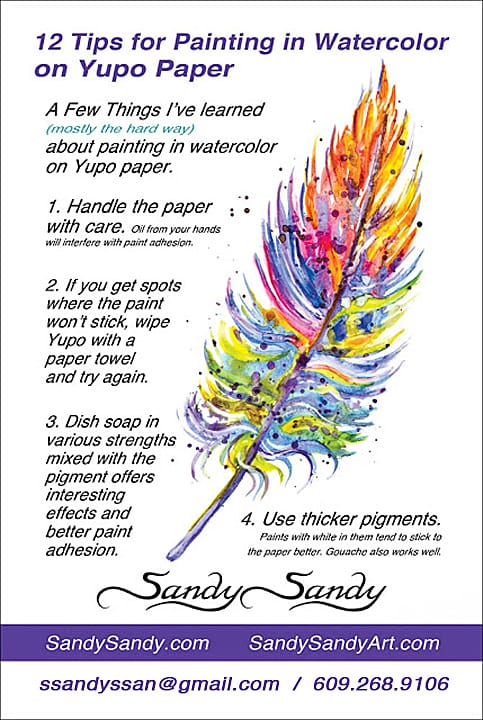 12 Tips for Watercolor on Yupo