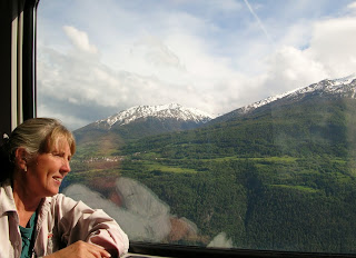 Europe train window seat. Photograph by Janie Robinson, Travel Writer