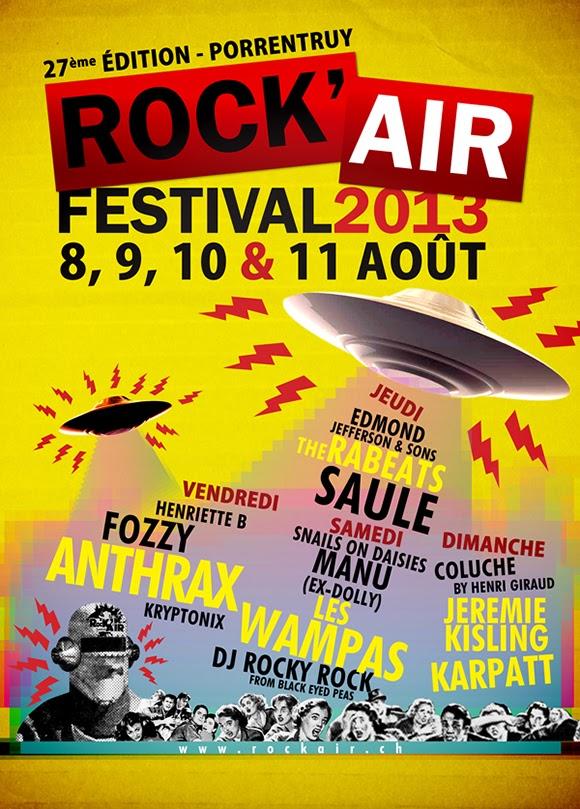 The Rabeats au Rock'Air Festival 2013
