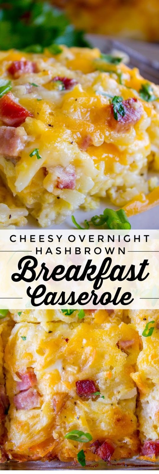 Easy Breakfast Casserole with Potatoes and Ham
