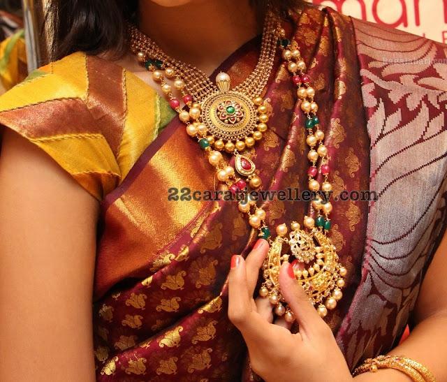 Sowmya Two Layer Beads Long Chain