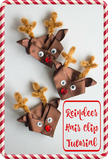 How to Make Adorable Reindeer Hair Clips