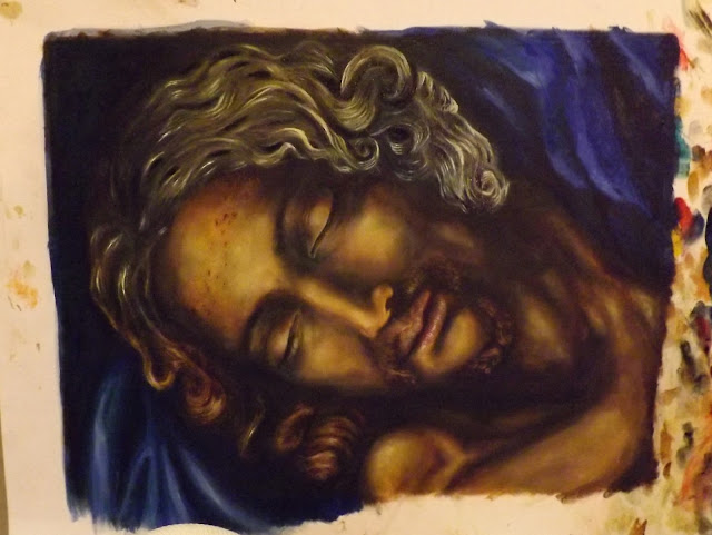 Daily Painting Pieta Jesus After Michelangelo The Oracle