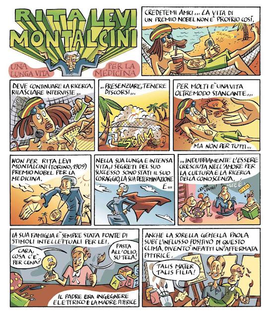 Fumetto su Rita Levi Montalcini per l'editoria scolastica