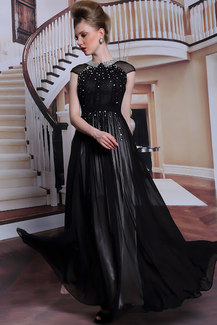 prom evening dress elegant goth inspiration