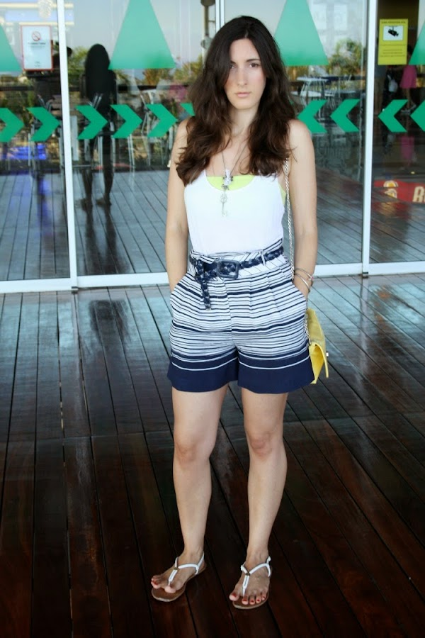 OOTD: striped shorts