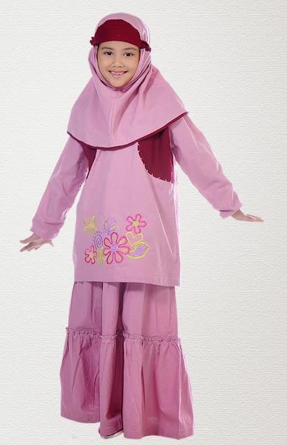Model Baju Muslim Gamis Untuk Anak Perempuan