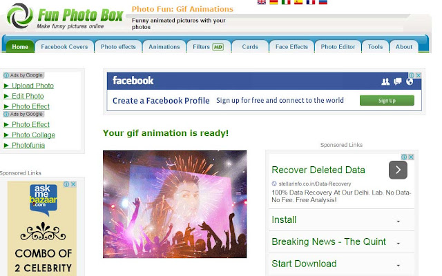 Fun photo box edit your online picture