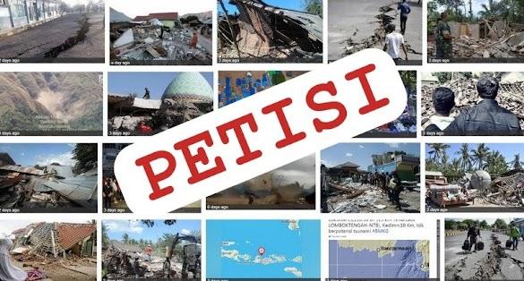 "Ribuan Warga Tanda Tangani Petisi, Tuntut Gempa Lombok sebagai ""Bencana Nasional"""