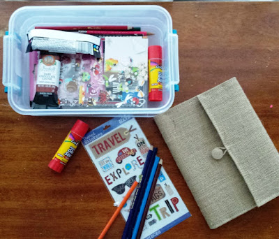 DIY a craft kit for postcard journaling this summer