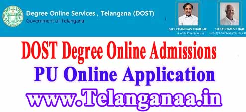 Palamuru University Degree Online Admissions 2019 dost.cgg.gov.in PU Degree Online Services Telangana