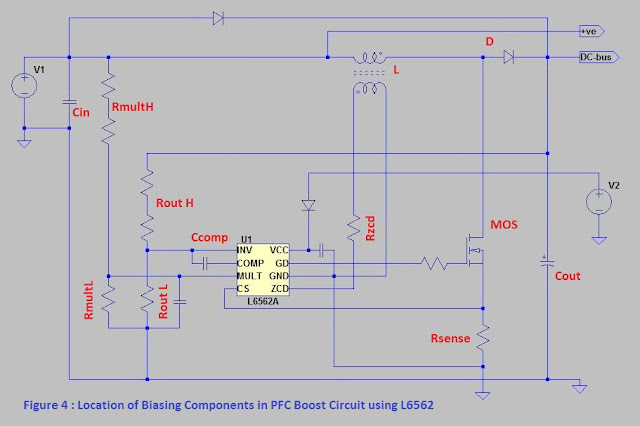 Biasing components in PFC Boost circuit