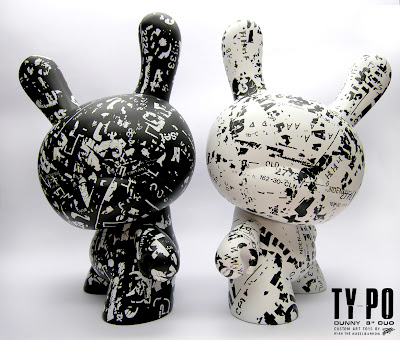 Ty_po 8 Inch Custom Dunnys by Ryan the Wheelbarrow - Black and White Duo