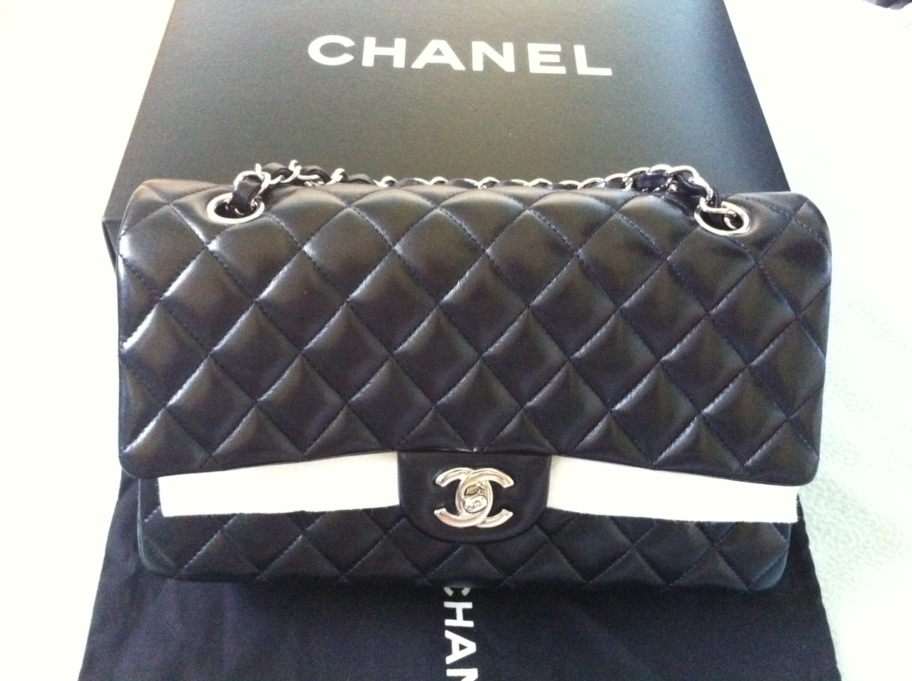 d07565a447 ... baby Chanel in lambskin, then it is recommended for you to get this  type of leather. Anyway, there would always still be a room for a new one  right? :p