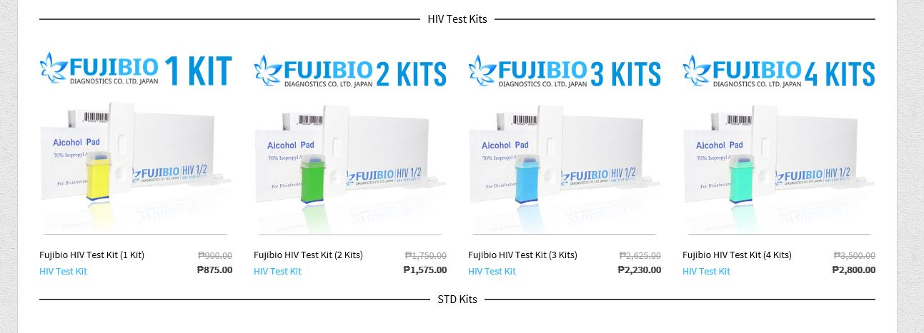 hiv test kit available online free delivery