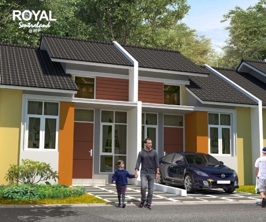 tampak depan rumah minimalis ukuran 5x12 meter 2 kamar tidur 1 lantai