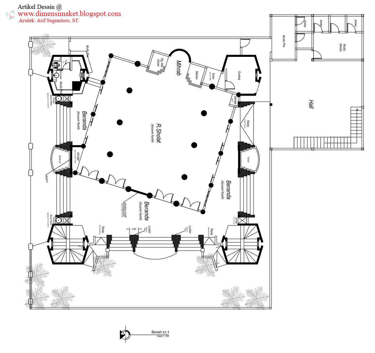 Desain Masjid & Musholla 010 : Perencanaan Masjid Al-Huda ...