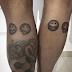 Em fim de férias no Brasil, Neymar tatua emojis antes de voltar para Barcelona