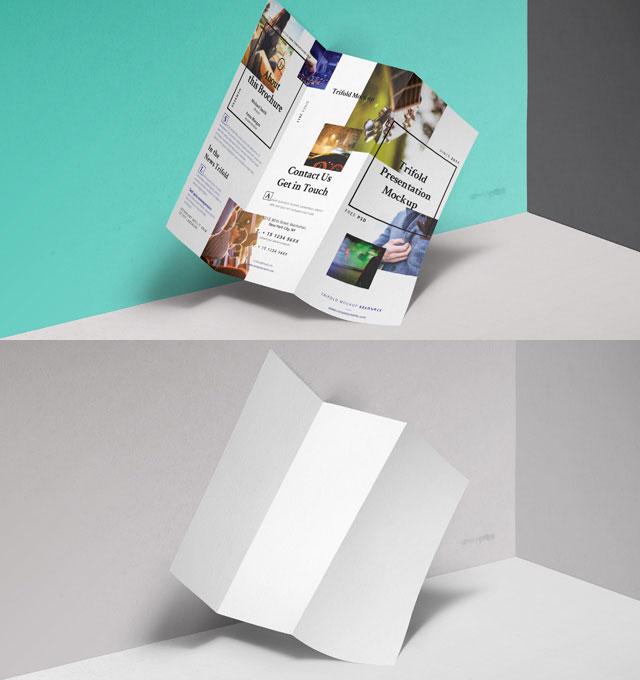 Tri Fold Mockup PSD