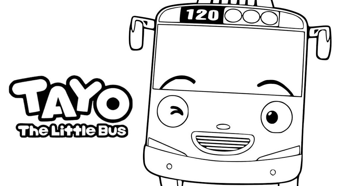 Menggambar Tayo Bus