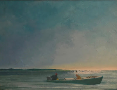 painting Quirk, Maritime Painting Francis Quirk, Maine Artist, Maine Painting