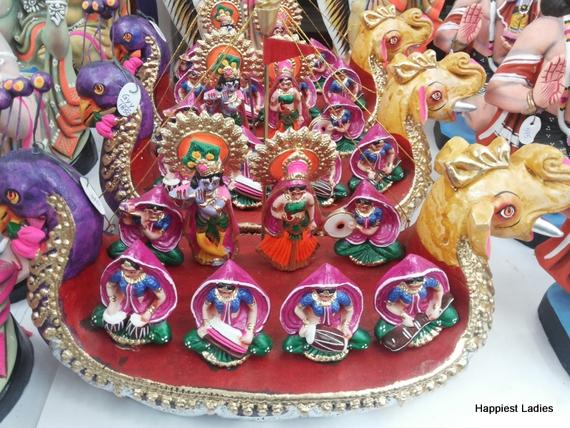 Krishna Gopikas Clay Dolls
