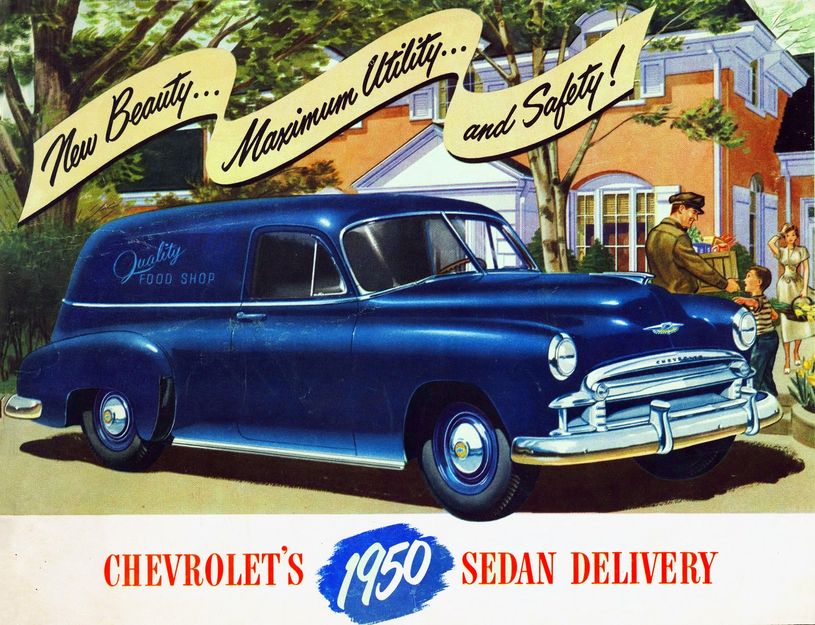 transpress nz: 1950 Chevrolet Sedan Delivery vehicle