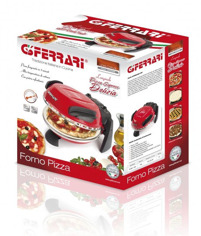 1200 W in Rosso G3 FERRARI G10006 DELIZIA DA FORNO PER PIZZA