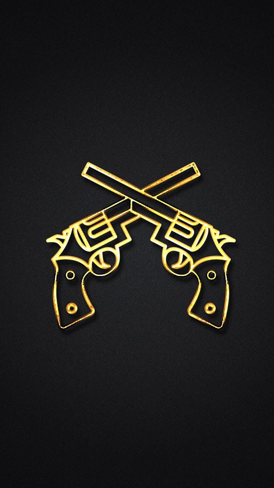 Gold Gun IPhone 7 And Plus HD Wallpaper