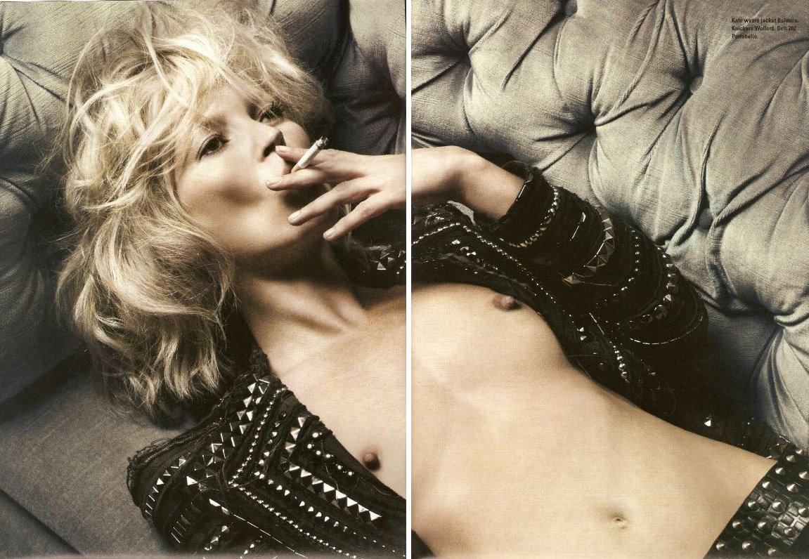 KATE MOSS Smoking in Balmain and still look GORGEOUS