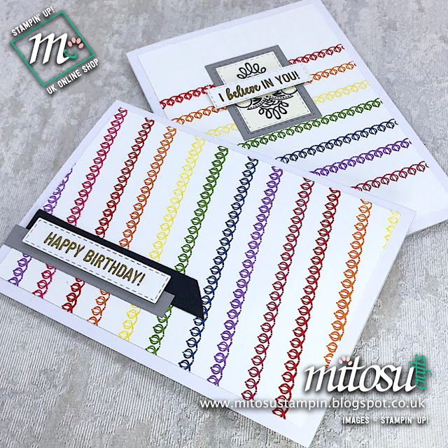 Amazing Life Stampin' Up! Rainbow Card Ideas. Order Cardmaking Products from Mitosu Crafts UK Online Shop 24/7
