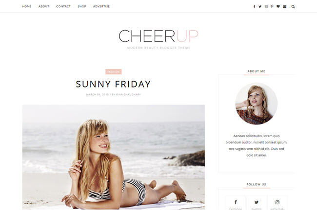 Cheerup - Responsive Minimal Blogger Template