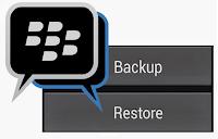 BBM backup data