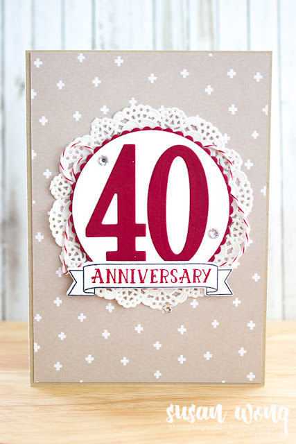 Hello Lovely + Number of Years Cards - Stamping Susan Wong